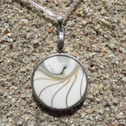 Collier pendentif nacre nautile rond nacre naturel