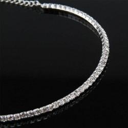 Collier choker 1 rang strass diamant , ras du cou réglable