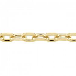 Chaîne Forçat plaquée or 2.6 mm 55 cm homme | femme