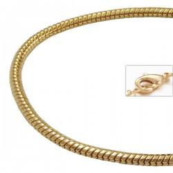 Chaîne Serpent ronde plaquée or 1.5 mm | 45 cm enfant adolescent