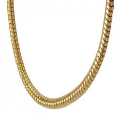 Chaîne Serpent ronde plaquée or 1.5 mm | 45 cm
