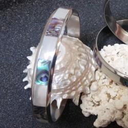 Bracelet rigide nacre abalone paua shell