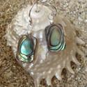 Boucles d oreilles abalone